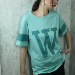 Baskılı Sıfır Yaka T-shirt Mint